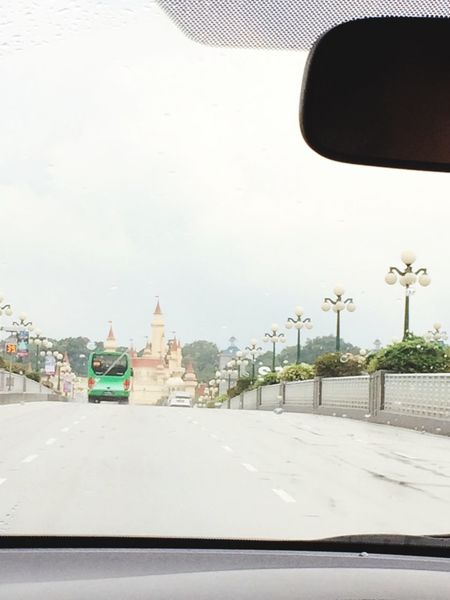 The Drive Transportation I adore this view ❤️ Disney land Singapore,sentosa and a big green bus Travel Singapore