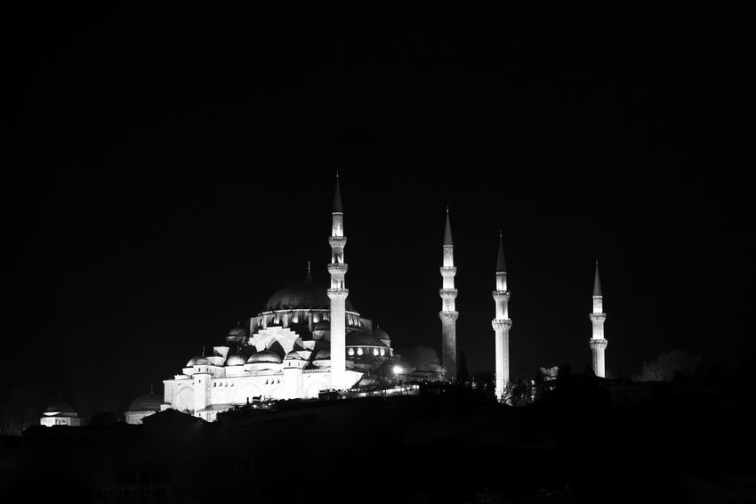 Abbey Architecture Belief Building Building Exterior Built Structure Copy Space Dark History Illuminated Low Angle View Night No People Place Of Worship Religion Sky Spire  Spirituality The Past Travel Destinations
