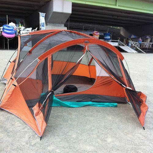 テント建てたー