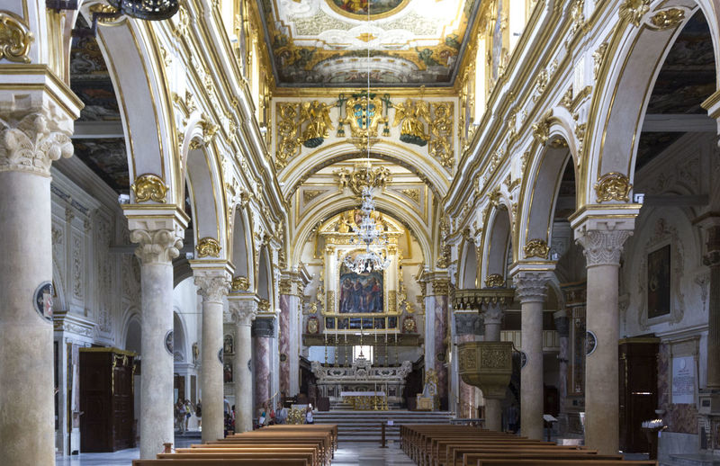 Matera Italy Unesco UNESCO World Heritage Site Architecture Built Structure Place Of Worship Religion Belief Spirituality Building Architectural Column Indoors  The Past Arch Art And Craft Travel Destinations History No People Sculpture Altar Ceiling Architecture And Art Ornate Aisle