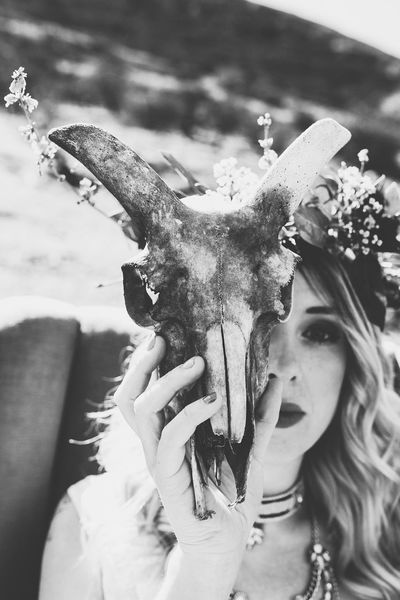 Lauraloophotography EyeEm Best Shots Animal Skull EyeEm Selects Young Women Flower Portrait Close-up Headdress Wearing Flowers