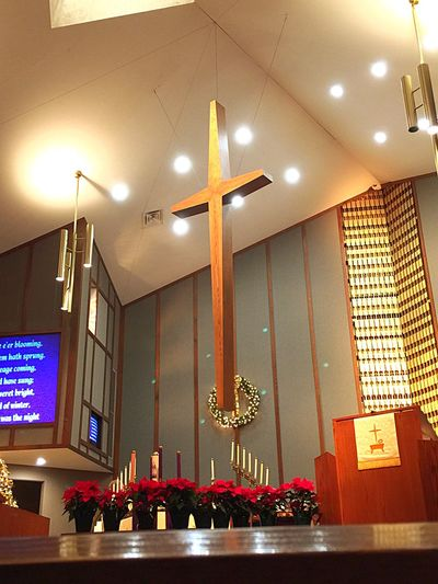 Christmas service 2014 Church Cross Christmas Eve Praising The Lord IPhoneography Church Photos Iphone6plusphotos Iphonephotography Candle