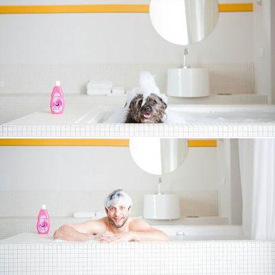 After exploring all day, we needed a bubble bath to wash Los Angeles off of us. Mikandbrix La Losangeles Dogsofinstagram Love Cute Bff Bffs Bubbles Bubblebath  Bath Bathtub Thestandard