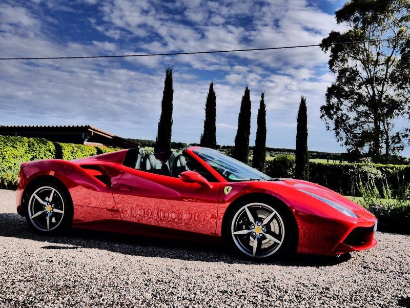 FERRARI 488 SPIDER Tuscany Cloud - Sky Luxury No People Outdoors Red Sky