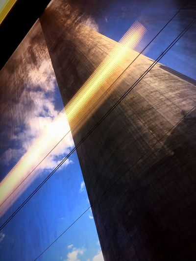 The highest chimney in Europe! Trbovlje in Slovenia! No People Day Sky Nature Tree Outdoors Low Angle View Reflection Architecture Cloud - Sky Built Structure Office Block