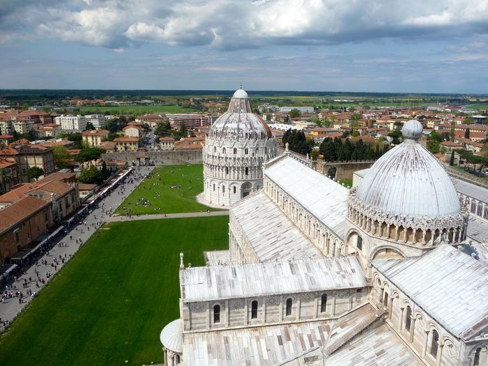 Architecture Building Exterior Built Structure Cathedral Cathedral Of Pisa Church Composition Culture Dome History Human Settlement International Landmark Italien Italy Pisa Place Of Worship Religion Spirituality Vogelperspektive