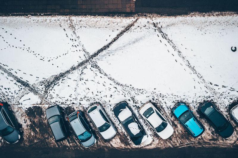 Text on snow