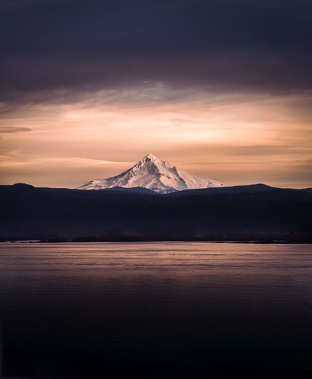 Mt. Hood Sunset Sky Beauty In Nature Dramatic Sky Night Mountain Snow Water Landscape Cloud - Sky Nature Cold Temperature Outdoors No People Astronomy Adult PNW Majestic Oregon Tree Rainfall Winter Beauty In Nature Scenics Space