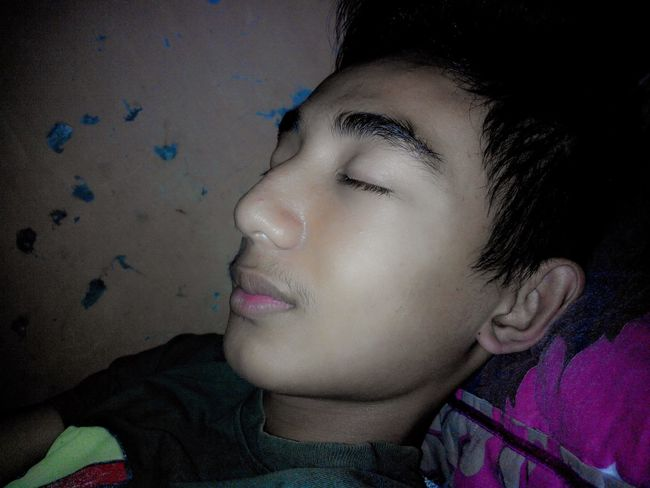 Sleep Handsome Relaxing Enjoying Life
