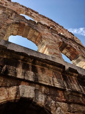 Arena di Verona Arena Verona Old Ruin Low Angle View History Sky Arch Architecture Ancient Travel Destinations Built Structure