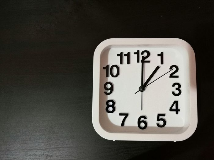 Clock shown 1