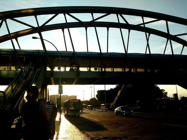 Entardecer Dia Rio De Janeiro Cidademaravilhosa Ônibus  Ponte FinalDeTarde