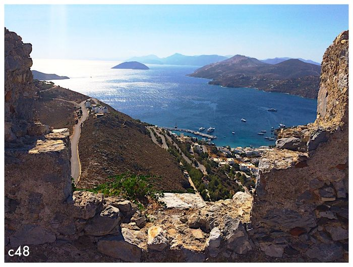 Leros, dal Castello Scenics Ancient Castle Leros Leros Island Panoramic Greece