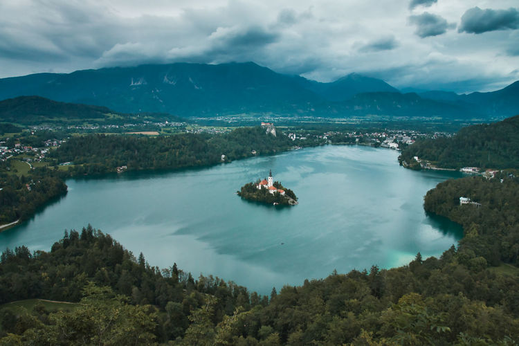 Moody scenes at lake bled, slovenia.