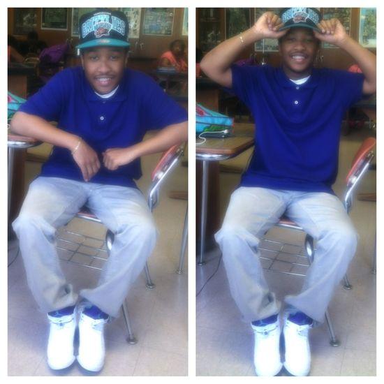 I Wus Chillin in school