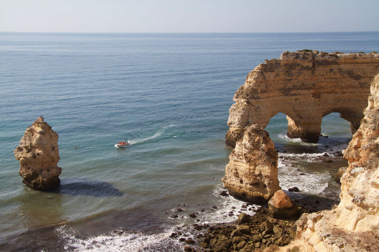 Algarve, Portugal Beach Beach Photography Plage Soleil Portugal Praia Da Marinha Rocher D'Algarv Tourist Attraction