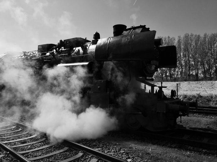 Steam Train Emitting Smoke