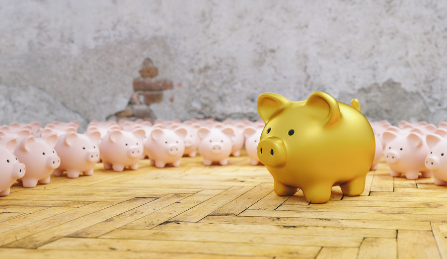 Big golden piggy bank with small pink piggy banks, investment and development concept Wood - Material Wealth Toy Table Success Still Life Security Savings Save Safe Row Rich Representation Rate Prosperity Profit Pink Piggybank Piggy Bank Piggy Pig Overweight No People Money Many Mammal Making Money Luxury Large Group Of Objects Kids Investment Invest Indoors  Individuality In A Row Idea Growth Growing Group Gold Fund Floor Financial Finance Family Economy Economic Deposit Currency Coin Bank Coin Close-up Cash Business Brick Wall Bigger Banking Bank Account Bank Animal Representation Animal Account Above