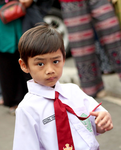 Boys Child Childhood Close-up Day Education Ezzra Human Body Part Human Hand Looking At Camera MySON♥ Outdoors People Portrait Real People School Uniform Standing Student