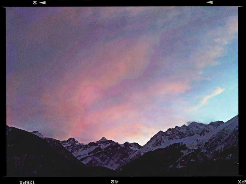 Sunset in the Frenchalps !-{0>