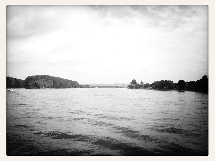 Rheinfahrt - Boat Ride Blackandwhite Mobile Photography Landscape