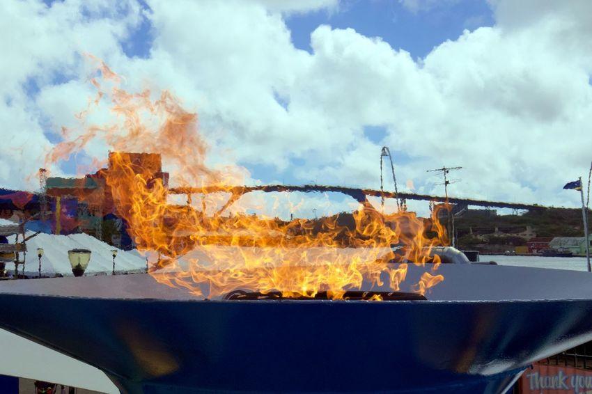 Celebration Burning Day Event Fire Flame Heat - Temperature No People Otrabanda Outdoors Queen Juliana Bridge