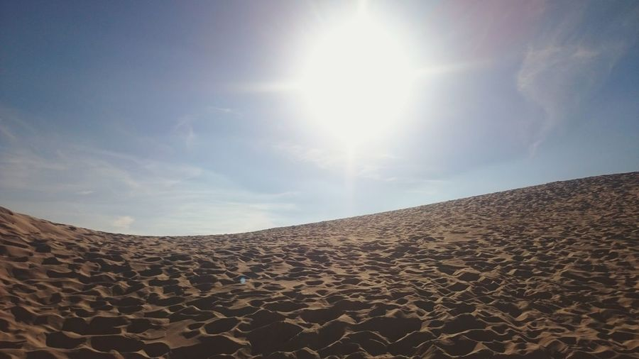 Sun Sunlight Sky Bright Physical Geography Summer Outdoors Beauty In Nature Sand Dune Sand Dune Sandandsky Minimalism Simplicity Beachphotography Bolonia Beach SPAIN