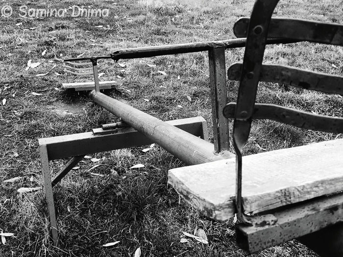 90s Kid Blackandwhite Blackandwhite Photography Close-up Day Day Out Grass Grass Area Lonely Lonely Objects Lonely Place  Metal No Children Playing No People Outdoors Park Pattern Playground Playground Equipment Playground Structure Playing Sad Sad & Lonely Sad Place Sadness
