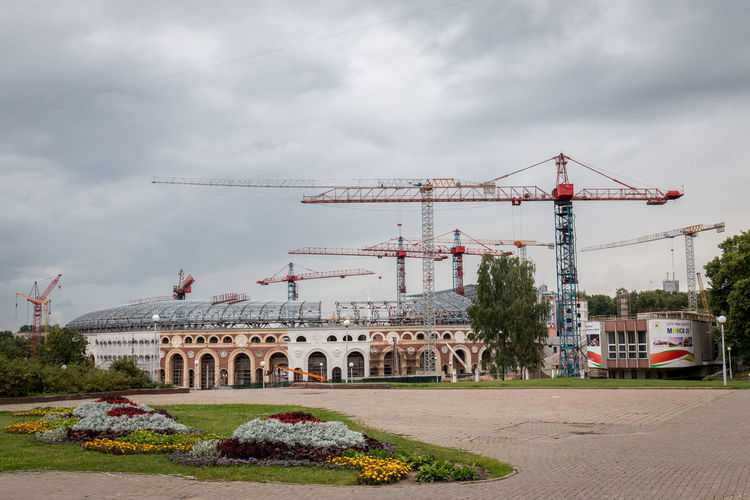 Architecture Built Structure Crane - Construction Machinery Construction Site Machinery Cloud - Sky Sky Development Construction Industry Building Exterior Nature Incomplete Industry Day City Building - Activity Outdoors Travel No People Transportation Construction Equipment