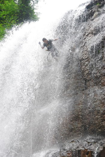 Waterfall Rappelling Waterfall Rappelling Adventure Adventure Time Adventure Travel Adventure Outdoors Two People Day Extreme Sports Real People Men Nature Water People