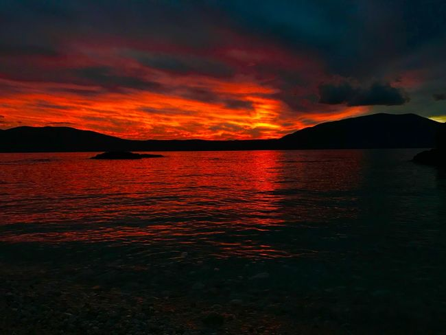 Albania Radhime #Radhime RedSky Red Scenics Beauty In Nature Nature Cloud - Sky Dramatic Sky No People Sunset Tranquil Scene Outdoors Day Tranquility Water Sea Sky