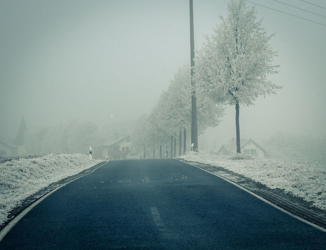 Road to my hometown... Snow Winter Cold Temperature Fog Nature Tranquility Day Beauty In Nature No People Outdoors Sky Silence Lightroom Canon EOS 1300D Canonphotography Canon Hessen Germany Fulda Wintertime Winter Wonderland Landscape The Way Forward