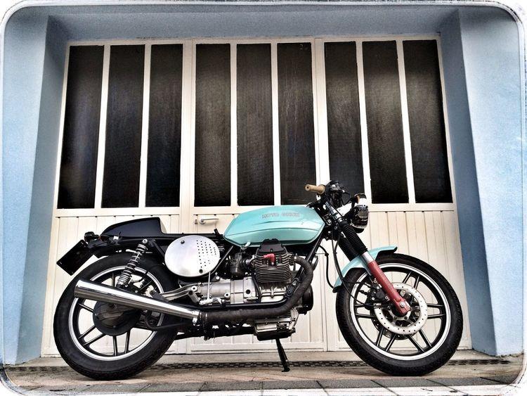 Moto Guzzi Bikers Cafe Racer Enjoying Life