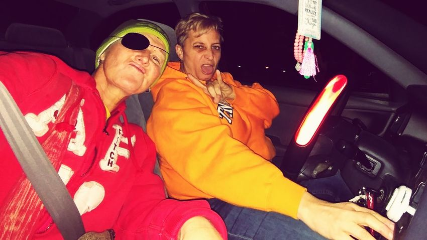 EyeEm Selects Two People Sitting Adult People Togetherness Adults Only Night Young Adult Front View Women Adult Only Women 2 People 2 Women Faux Thugs Red Hoodie Orange Hoodie In Car Selfie Portrait Let's Go. Together. Sommergefühle The Week On EyeEm Richmond Ky Modern Love Connected By Travel Second Acts Fashion Stories This Is Queer This Is Family Visual Creativity This Is My Skin