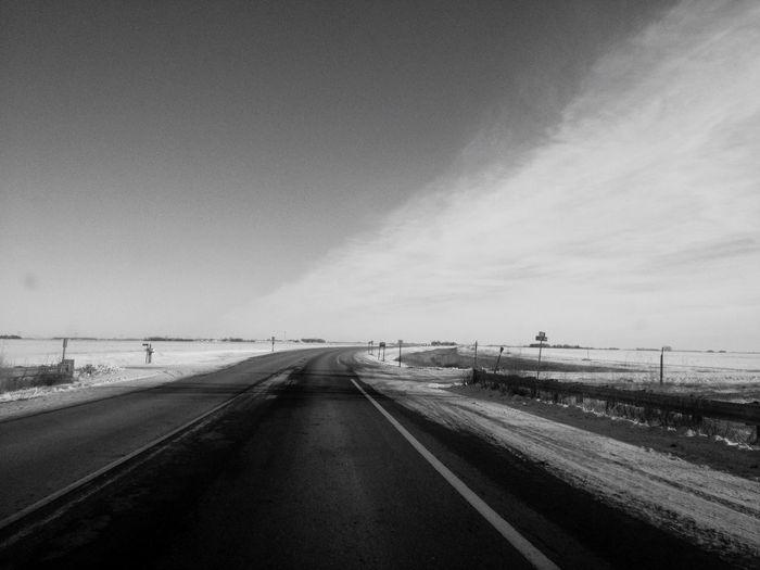 QVHoughPhoto Minnesota Moorhead Landscape Road Blackandwhite IPhoneography IPhone4s
