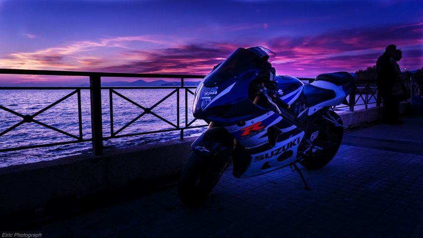 True Romance Sunset Greece Athens GSXR1000 Motorcycle Colorful Colors Hello World Enjoying Life Sky And Clouds Beautiful Landscape Sony A6000 Street Skyporn Taking Photos Horizon Seascape