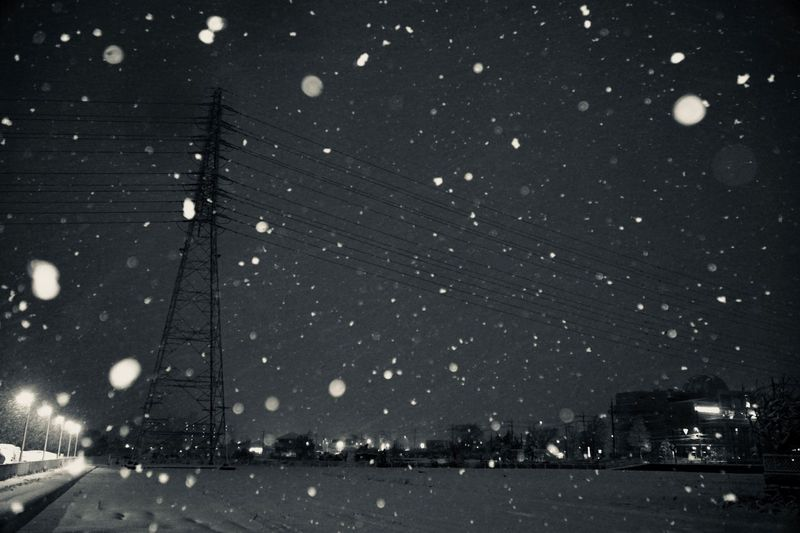 """snow night"""