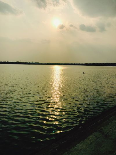 Water Sea Nature Sunset Beauty In Nature Sky Reflection Tranquility Scenics Tranquil Scene No People Sun Outdoors Day