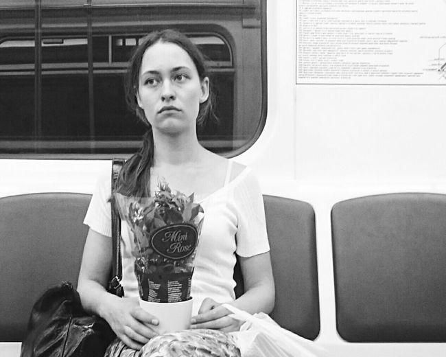 Mobilephotography People Watching People Public Transportation Metro Underground Blackandwhite