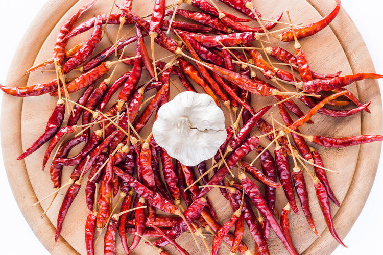 Dried peppers
