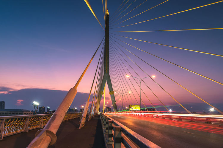 Rama viii bridge against sky during sunset
