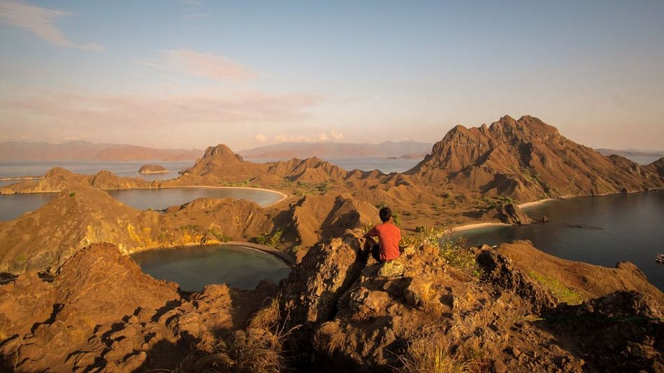 Travel Horizontal People Adventure Outdoors Landscape Mountain Adult Person Sky Day Nature Padar Padar Island Flores INDONESIA Lost In The Landscape