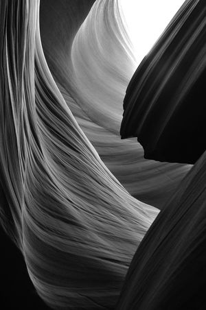 Antelope Canyon USA Black & White Beauty In Nature Close-up Contrast Day It´s Bloody Amazing! Light And Shadow Low Angle View Nature No People Outdoors Rock - Object Slot Canyon