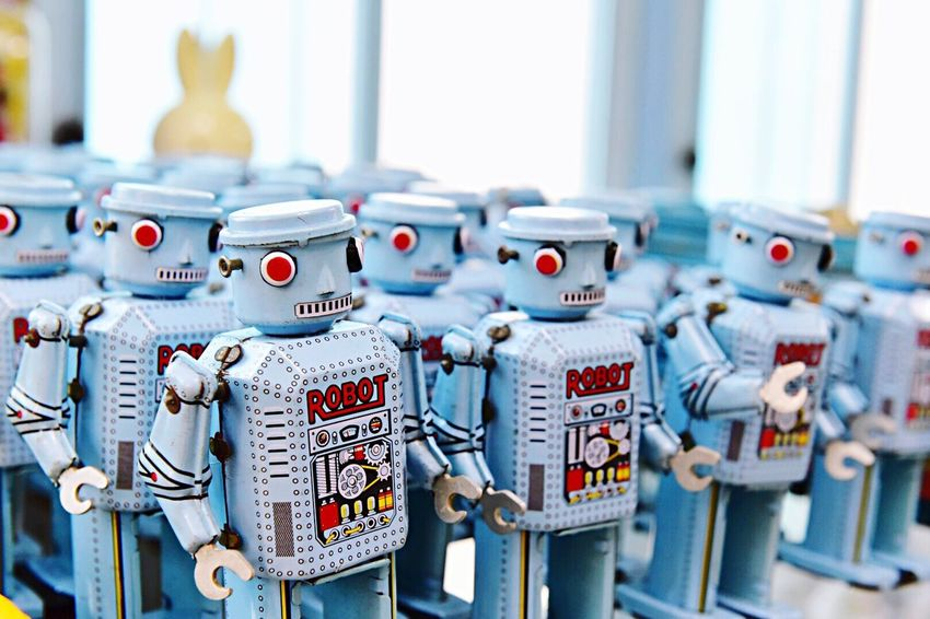 Robot Robots Toys Thailand Blue Museum Ayutthaya Kids Fun