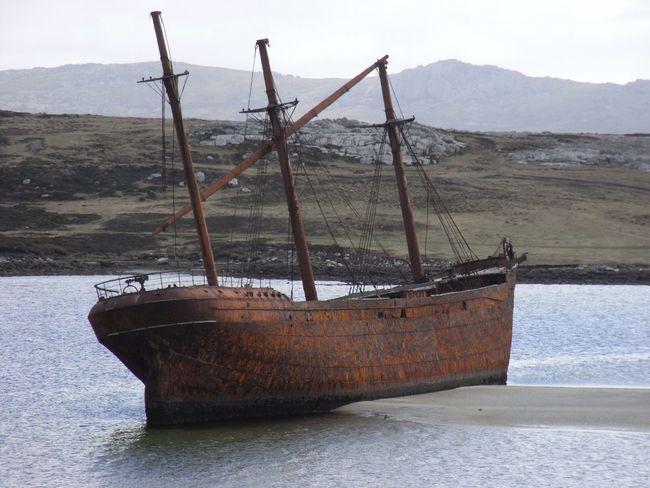 Shipwreck - Falklands Shipwreck Falkland Islands