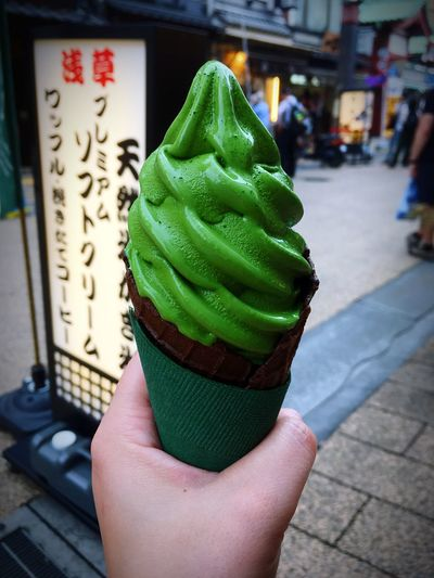 Matcha ice cream Japonesefood Tasty Ice Cream Green Dessert Japan Photography Japan Travel Destinations Greentea Tea Travel Photography Tokyo Sweet Food Human Hand Hand One Person Green Color Human Body Part Holding Focus On Foreground Sweet Close-up Dessert Food Food And Drink Day
