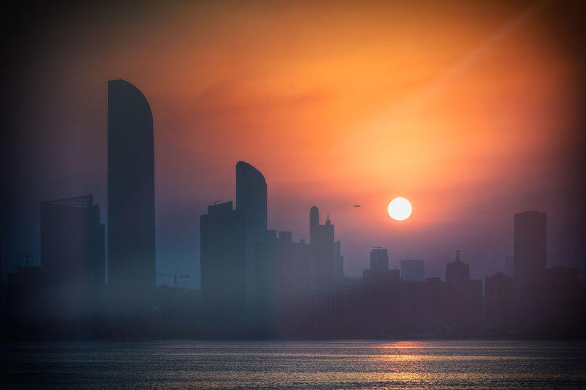 Sunrise. Abu Dhabi Abudhabi Arabic Architecture Building City Filtr River Sea Sun Sunrise Sunset Tree Treval UAE Urban Vintage Water Live For The Story Let's Go. Together. Sommergefühle Discover Berlin