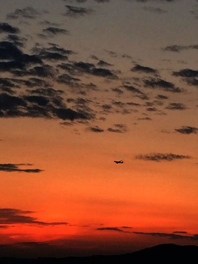 Air Plane Clouds And Sky Sunset An Airfield