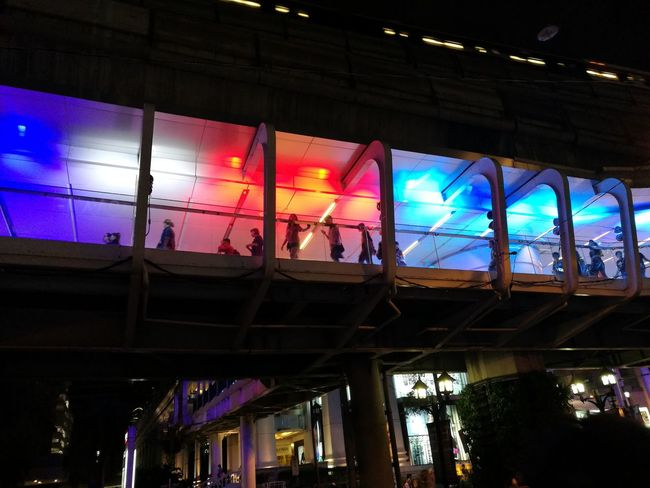 Travel Bangkok New Year Around The World Train Nightphotography Multi Colored Low Angle View