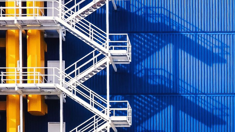 Stairs and shadows Rotterdam Holland Netherlands Blue Fireescape Taking Photos Taking Pictures Shadow Walking Around City